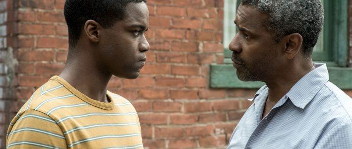 "Denzel Washington and Jovan Adepo in ""Fences"""