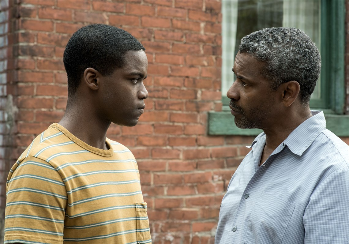 "Denzel Washington and Jovan Adepo in ""Fences"""